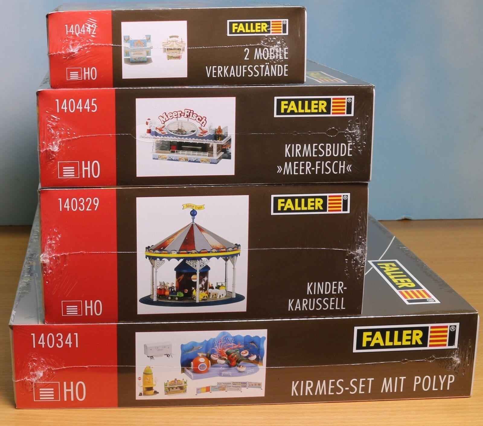 Faller 140341, 140329, 140445, 140442, traccia h0, KIT Guillaume-pacchetto 3