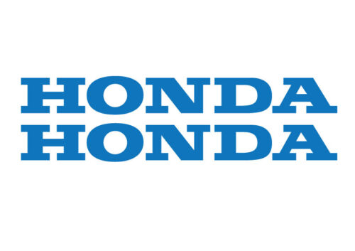 2 HONDA Decals Stickers for Bike, Quad, Outboard. Many Sizes, 18 Colours.