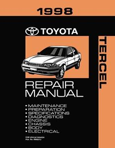 1998 toyota tercel shop service repair manual book engine drivetrain rh ebay com 1998 toyota rav4 repair manual free download 1998 toyota 4runner repair manual free