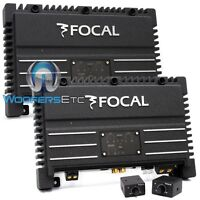 Pkg Focal 2 Pieces Solid-1 = 2-channels 1000 Watts Rms Car Audio Amplifiers Blk