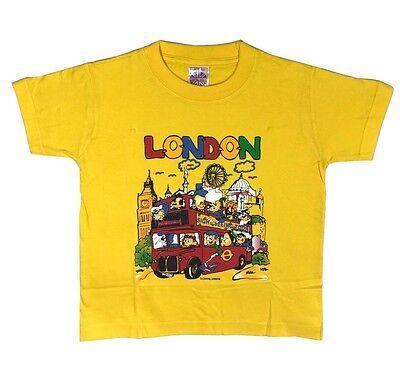 Kids Children/'s London England Scenes 100/% Cotton T-Shirt 1-10 Years