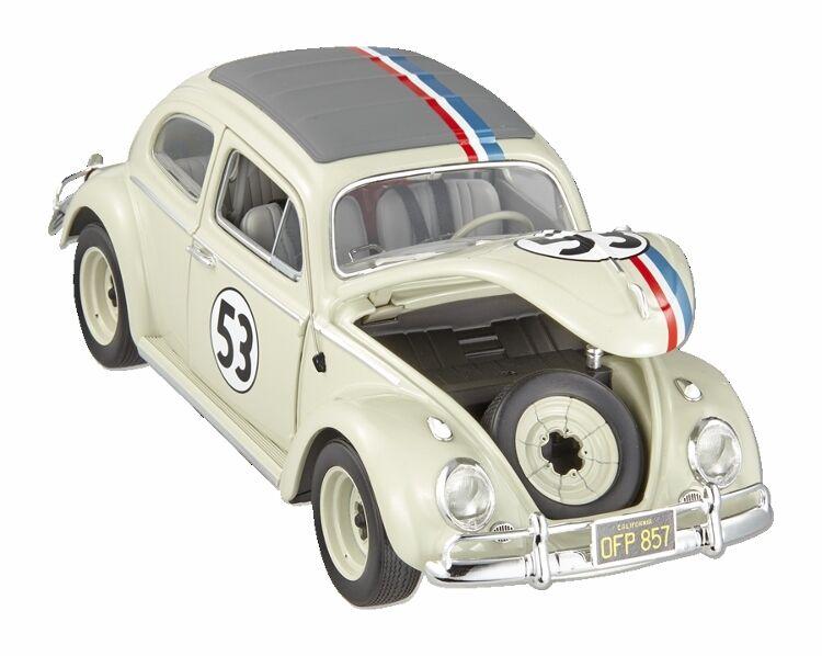 1:18 Elite Herbie The Love Bug Lovebug 1963 Volkswagen Beetle rosso bianca blu  53