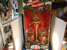 RARE Mr Christmas Holiday Songbirds Multi-Action/Lights 15 Carol Music Box