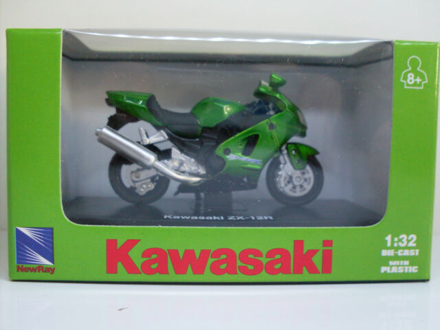 KAWASAKI ZX-12R, NewRay modèle de moto, 1:3 2, neuf, OVP