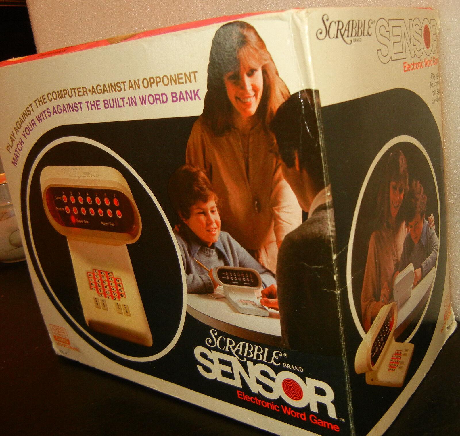 1978 incroyablement Rares Collectionneurs Vintage Scrabble capteur électronique Mot Jeu En parfait état, sous emballage