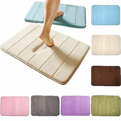 Memory Foam Non Slip Bath Mat Absorbent Soft Bathroom Bedroom Floor Rugs Carpet