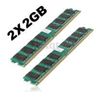 4GB 2X2GB DDR2 PC2-5300 DDR2-667 MHZ DESKTOP 240 PIN PC2-5300U Memory RAM AMD