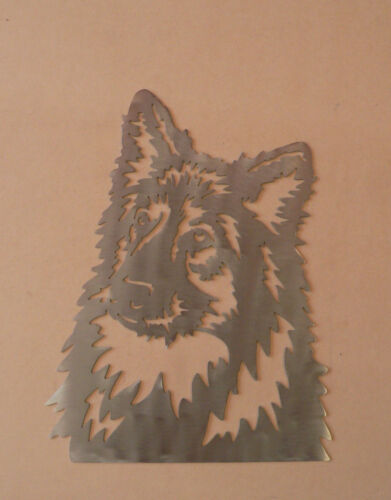 Metal Wall Art Silhouette Sculpture Indoor Outdoor DecorGerman Shepherd Dog