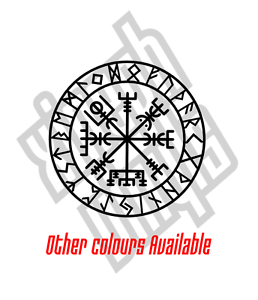 vegvisir runic compass vinyl sticker decal ipad car window rune viking protect ebay. Black Bedroom Furniture Sets. Home Design Ideas