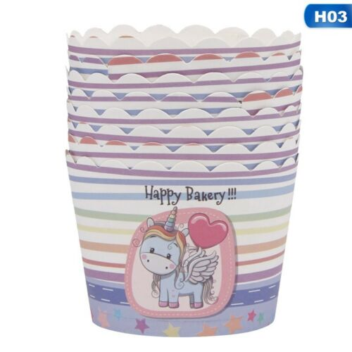 50Pcs//Set Disposable Baking Paper Cup Cupcake Cases For Home Party Supplies New