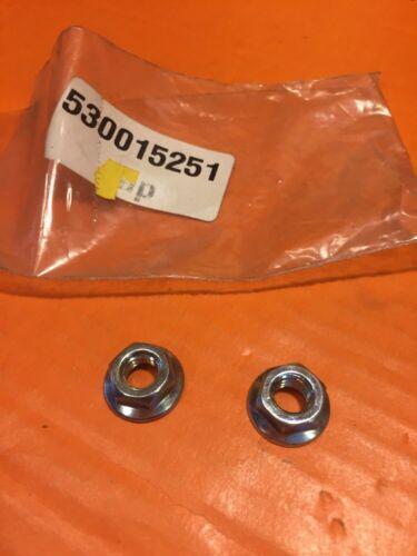 -B54 QTY 2-530015251 Genuine Poulan Chainsaw Bar Nuts NOS OEM