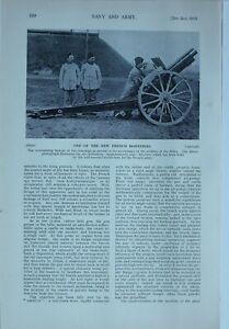 1914 WW1 ARTICLE & PICS FRENCH HOWITZER RIMAILHO GUN CREUSOT GUN