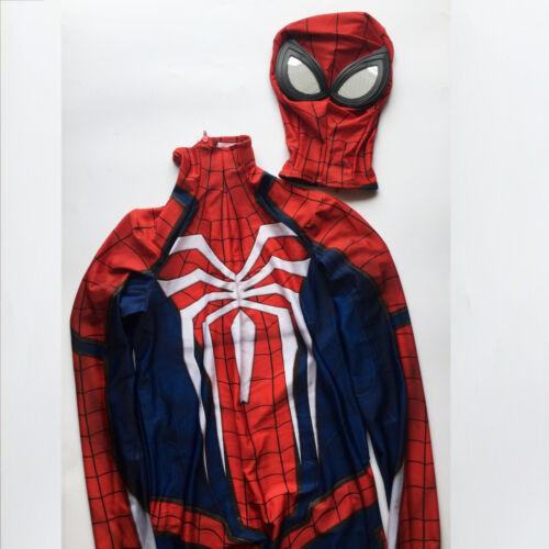 New Game PS4 INSOMNIAC Spiderman Spidey Costume Suit Halloween Cosplay Bodysuit