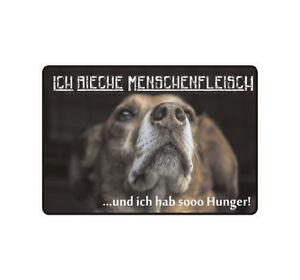 Schild Hinweisschild Hinweis Ich Rieche Menschenfleisch Hund