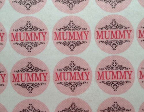Vintage Mummy Precut Wafer Rice Paper Mothers Day Birthday Cupcake Cake Toppers