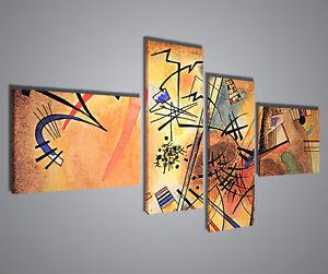 Quadri moderni kandinsky xiii quadro moderno 160x70 cm for Stampe d arredo