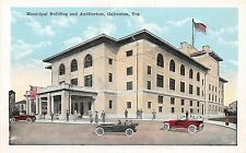 B23/ Galveston Texas Tx Postcard c1910 Municipal Building and Auditorium