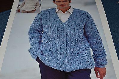 Sirdar Knitting Pattern 5755 Legend DK Men's Sweaters 38 ...