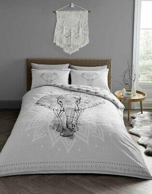 Elephant Cotton Blend Quilt Duvet Cover Bedding Set Single Double King Size