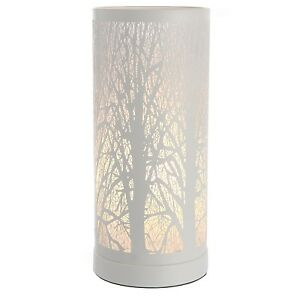 NEW WHITE TREE SCENE TOUCH DIMMER LIGHT TABLE LAMP BEDSIDE
