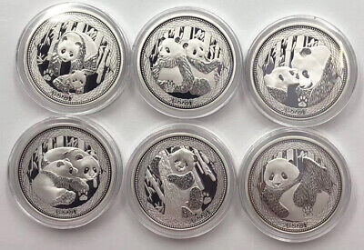 2017 China 35th Anni Gold Panda Coin Issue Silver Medals Set with COA Total:120g