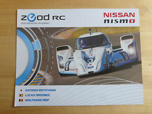 LE-MANS-24-HOURS-2014-NISSAN-nismo-ZEOD-RC-SOUVENIR-CARD-VERY-COLLECTABLE-MINT