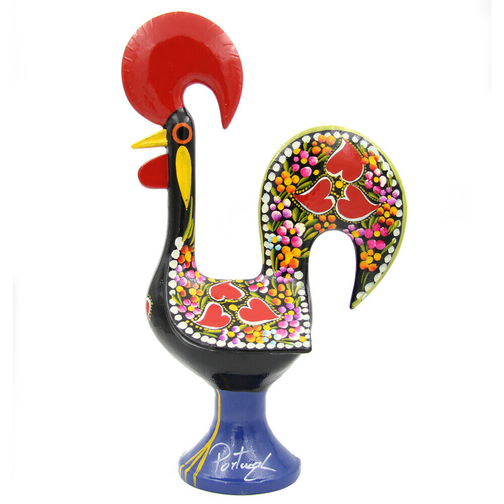 Estatuilla Decorativa De Aluminio tradicional portuguesa 14  buena suerte Gallo