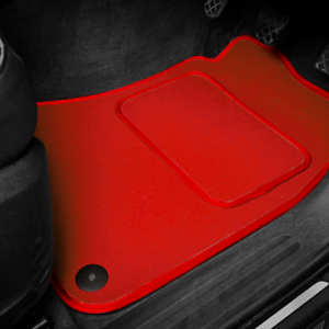 JAGUAR X TYPE BLACK /& RED TRIM CAR FLOOR MATS 2001 on