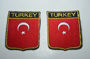 2-TURKEY-TURKISH-ISTANBUL-Embroidered-Sew-Iron-On-Cloth-Patch-Badge-APPLIQUE