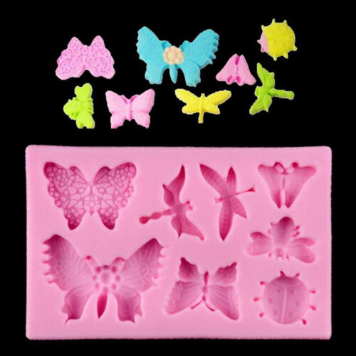 Butterfly Dragonfly Shape Silicone Mold for Fondant Cake Decorating Mold 6L