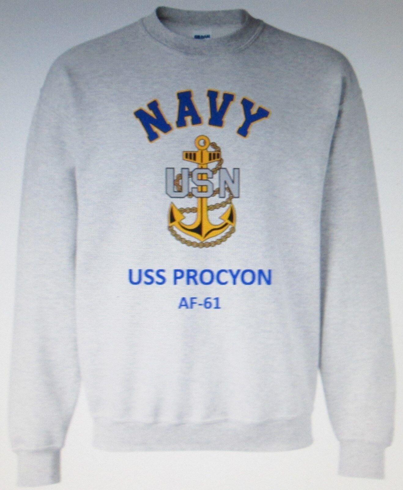 États-Unis navire Procyon AF-61  boutiques navire  marine ancre Emblème Sweat