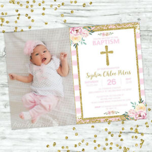 BAPTISM-INVITATIONS-GIRL-INVITE-PINK-FLORAL-CONFETTI-CHRISTENING-PARTY-SUPPLIES