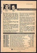 1956 TV ARTICLE~BOOMTOWN COWBOY REX TRAILER FLY'S PLANE OVER WBZ BOSTON STUDIO