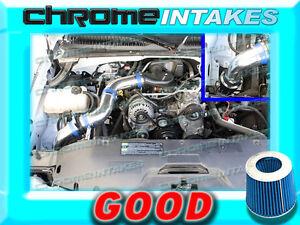 BLUE RED 99-07 CHEVY SILVERADO//GMC SIERRA 1500 4.3 4.3L V6 COLD AIR INTAKE KIT