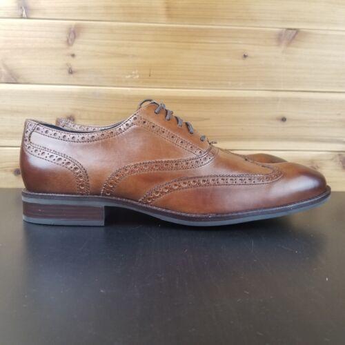 Cole Haan Wayne Wingtip Oxford Shoes British Tan Lace Up Mens C30687