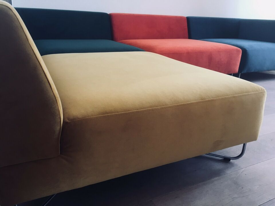 Sofa, velour, 5 pers.