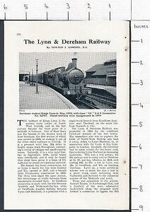 ZAS69* The Lynn & Dereham Railway 1958 magazine article