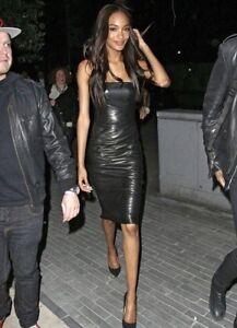 latex dress black Lauren