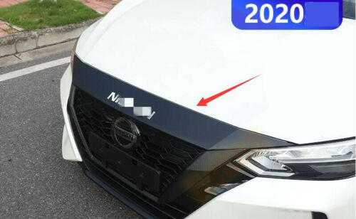1*Carbon style Sticker Front Hood Cover Bonnet Molding For Nissan Sentra 2020-21