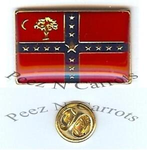 South-Carolina-Sovereignty-Flag-Lapel-Pin-CSA-Civil-War-Enamel-Metal-Clutch-Pin