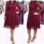 thumbnail 12 - Women Evening Cocktail Dress Plus Size Lace Skirt Casual Dresses Bow Long Sleeve