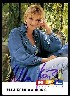 2019 Mode Ulla Kock Am Brink Rtl Autogrammkarte Original Signiert ## Bc 11066 Exquisite (In) Verarbeitung