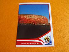 13 STADE JOHANNESBURG SOCCER PANINI FOOTBALL FIFA WORLD CUP 2010 COUPE DU MONDE