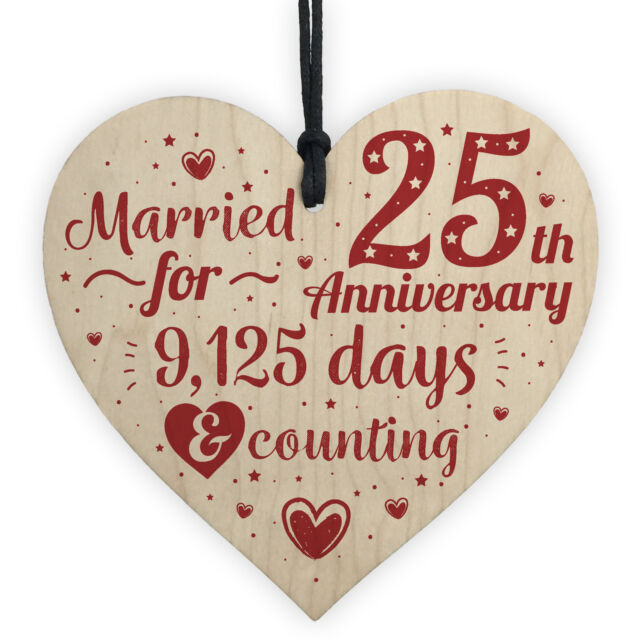 25th Wedding Anniversary Gifts Silver Twenty Five Years