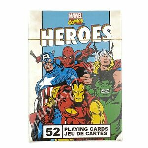 Heroes-Marvel-Comics-Official-52-Playing-Card-Deck-New-In-Package