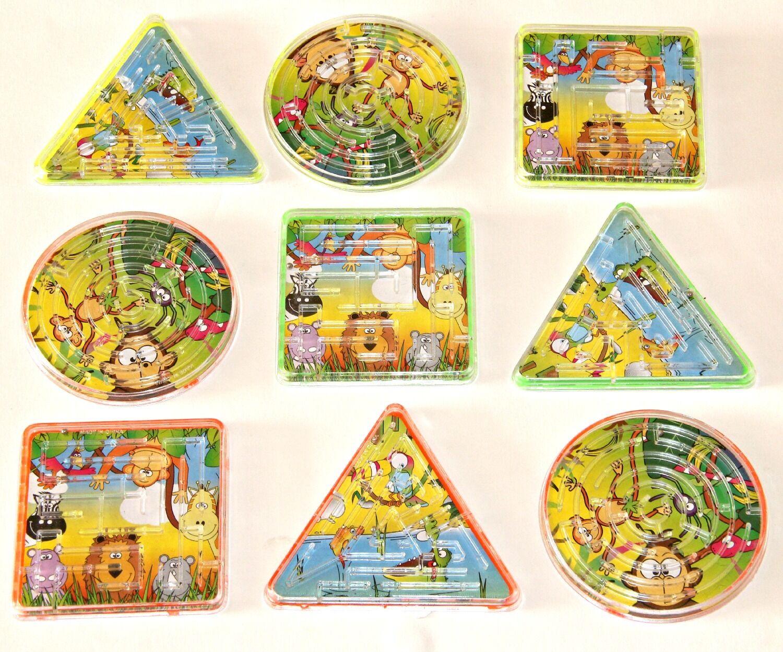 12pc safari maze puzzles fête sac remplissage poche jouet enfants goody sac prix