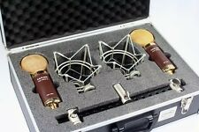 Cascade FAT HEAD II Blumlein Stereo Pair Brown/Gold with Case | Atlas Pro Audio