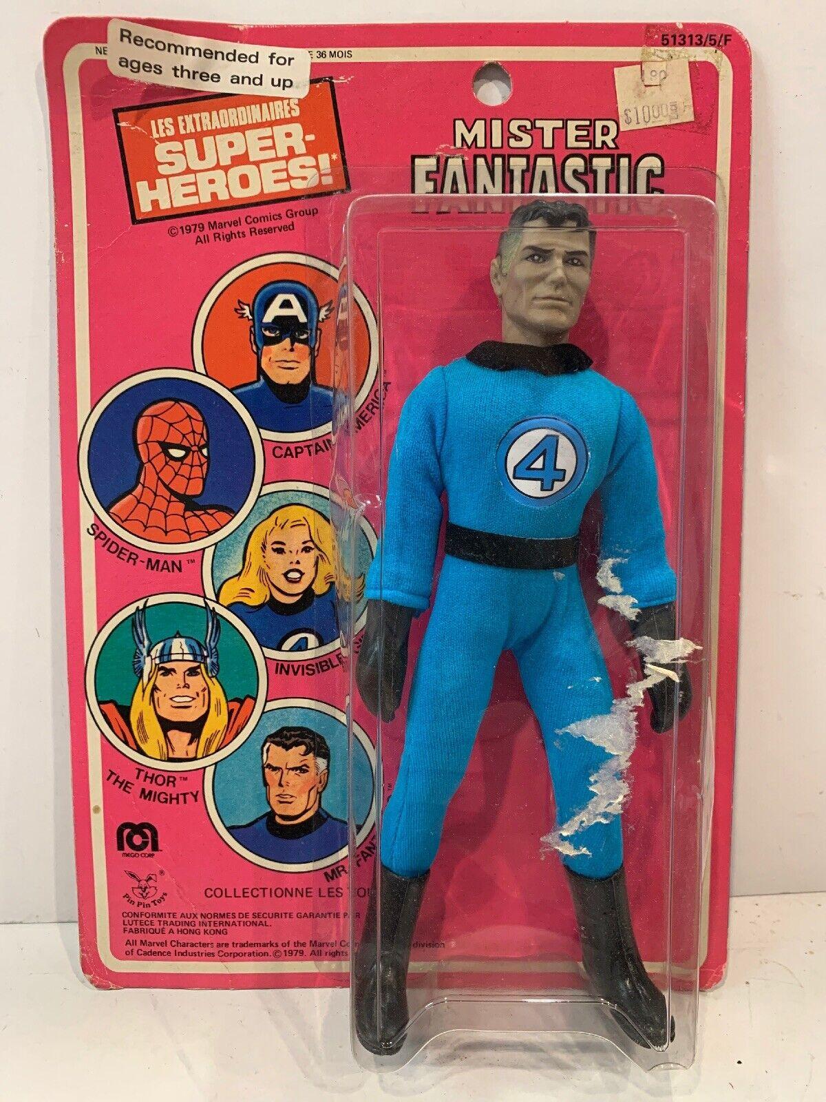 Mego 1979 Mister Fantastic Action Figure ORIGINAL SEALED MOC VINTAGE 4 Four