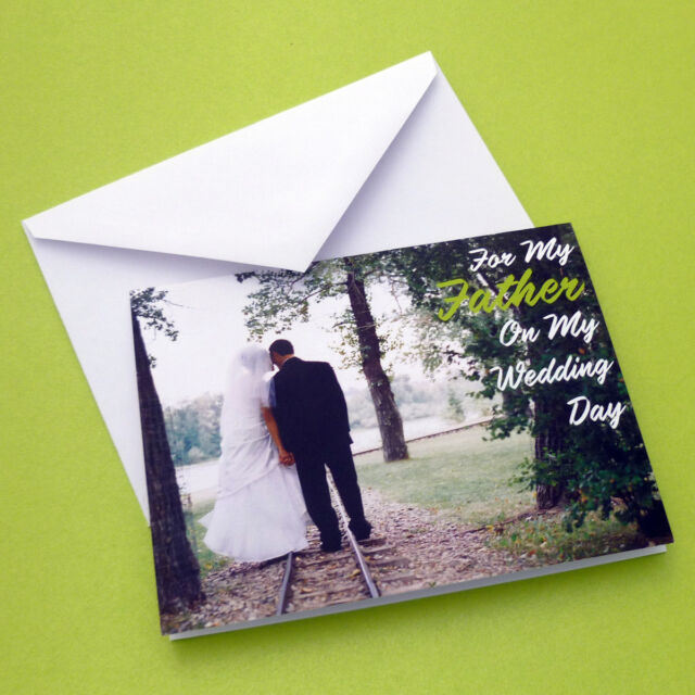 for my father on my wedding day greeting card bride dad daddy letter thanks tree