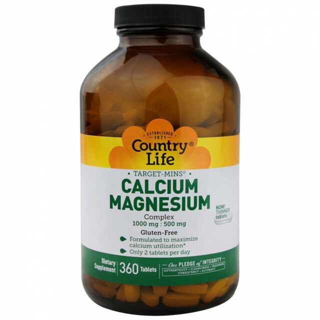 Country Life, Target-Mins Calcium-Magnesium Complex, 360 Tablets